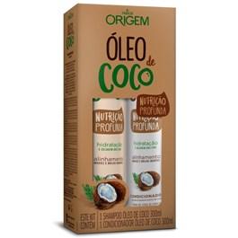 Kit Origem Shampoo + Condicionador 300 ml Cada Óleo de Coco