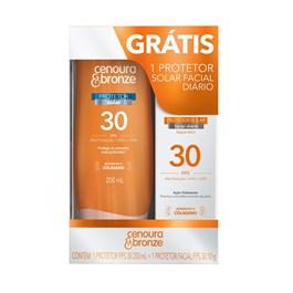 Kit Protetor Solar Cenoura & Bronze FPS 30 200 ml + Facial FPS 30 50 gr