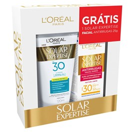 Kit Protetor Solar Expertise Supreme Protect 4 FPS 30 120 ml + Antirrugas Facial FPS 30 25 g