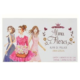 Kit Sabonete Alma de Flores 130 gr cada Alma de Mulher