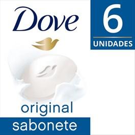 Kit Sabonete Barra Dove 90 gr Original 6 Unidades