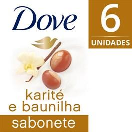 Kit Sabonete Barra Dove Delicious Care 90 gr Karite 6 Unidades