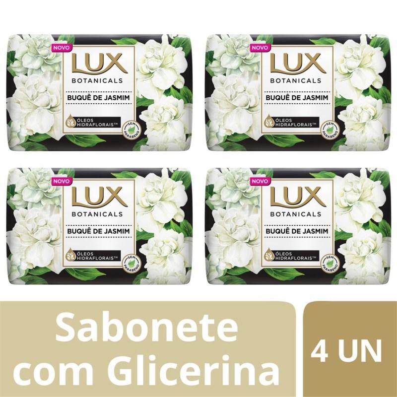 Kit Sabonete Barra Lux Botanicals 85 gr Buque de Jasmim 4 unidades