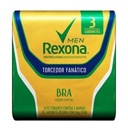 Kit Sabonete Barra Rexona Men 84 gr Torcedor Fanático