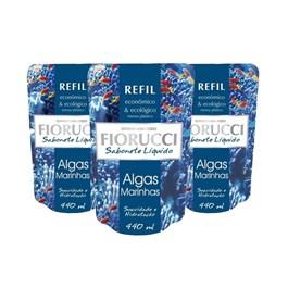 Kit Sabonete Líquido Fiorucci Refil 440 ml Algas Marinhas