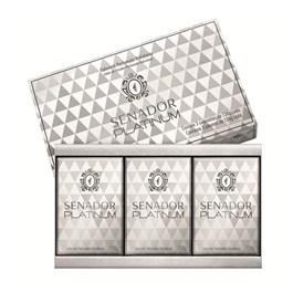 Kit Sabonete Senador 130 gr Cada Platinum