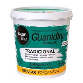 Kit Salon Line Guanidina 218 gr Regular Cabelos Textura Média ou Finos
