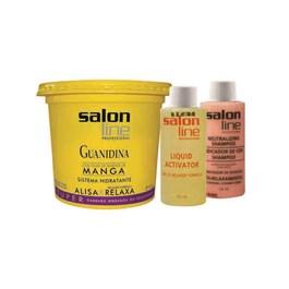 Kit Salon Line Guanidina Manga 215 gr Super Grossos ou Resistente