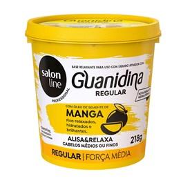 Kit Salon Line Guanidina Manga 218 gr Regular Cabelos Médios ou Finos