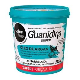 Kit Salon Line Guanidina Oleo de Argan 215 gr Super Cabelos Grossos e Resistentes
