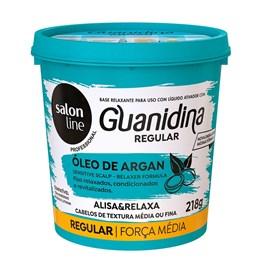 Kit Salon Line Guanidina Óleo de Argan 218 gr Regular Cabelos Médios ou Finos