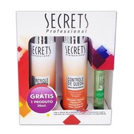 Kit Secrets Shampoo + Condicionador 300 ml Cada Controle de Queda Grátis Tônico