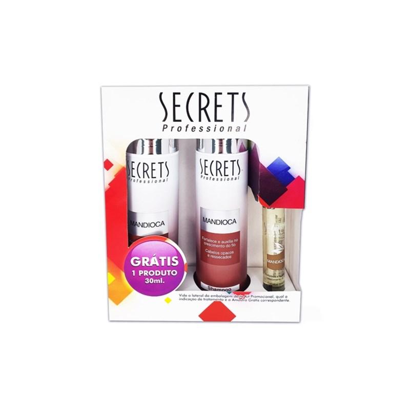 Kit Secrets Shampoo + Condicionador 300 ml Cada Mandioca Grátis Fluido