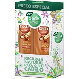 Kit Seda Shampoo + Condicionador 325 ml Cada Bomba de Nutrição