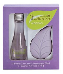 Kit Seivas da Natureza Colônia 60 ml + Sabonete 75 gr Algodão