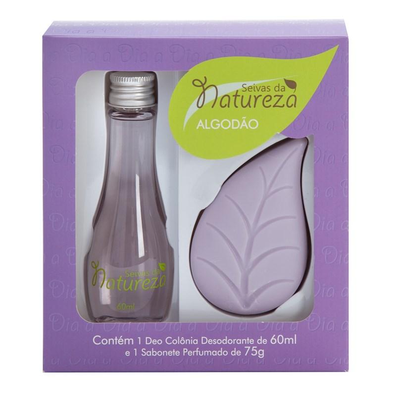 Kit Seivas da Natureza Deo Colônia 60 ml + Sabonete 75 gr Algodão