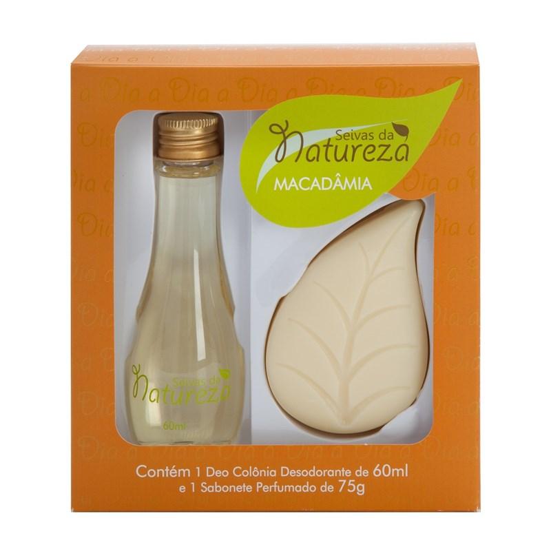 Kit Seivas da Natureza Deo Colônia 60 ml + Sabonete 75 gr Macadâmia
