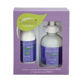 Kit Seivas da Natureza Loção Hidratante 190 ml + 1 Sabonete Líquido 300 ml Algodão