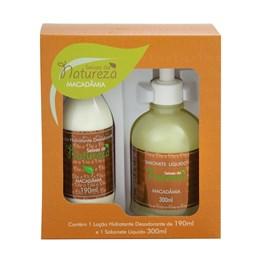 Kit Seivas da Natureza Loção Hidratante 190 ml + 1 Sabonete Líquido 300 ml Macadâmia