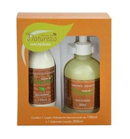 Kit Seivas da Natureza Loção Hidratante 190 ml + Sabonete Líquido 300 ml Macadâmia