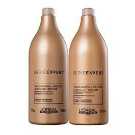 Kit Serie Expert Absolut Repair Gold Quinoa Shampoo + Condicionador Salão