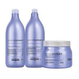 Kit Serie Expert Blondifier Gloss Shampoo + Condicionador + Máscara Salão