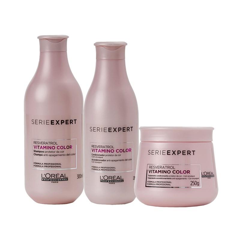 Kit Serie Expert Vitamino Color Resveratrol Shampoo + Condicionador + Máscara