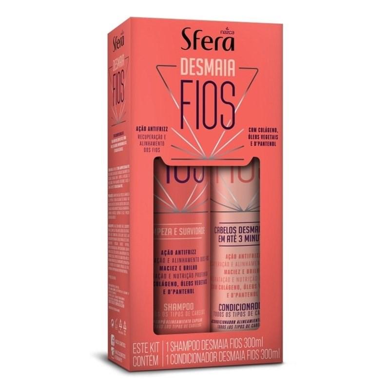 Kit Sfera Shampoo + Condicionador 300 ml Cada Desmaia Fios