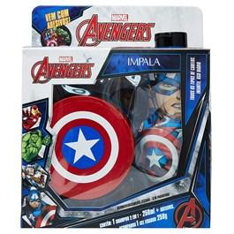 Kit Shampoo 2 em 1 + Gel Fixador Impala Avengers Capitão America