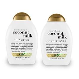 Kit Shampoo 250 ml + Condicionador 250 ml OGX Coconut Milk