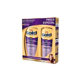 Kit Shampoo 300 ml + Condicionador 200 ml Niely Gold Liso Prolongado