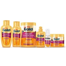 Kit Shampoo 300 ml + Condicionador 200 ml Niely Gold Nutric?o Poderosa