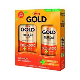 Kit Shampoo 300 ml + Condicionador 200 ml Niely Gold Nutrição Poderosa