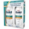 Kit Shampoo 300 ml + Condicionador 200 ml Niely Gold Óleo de Argan Pós Química
