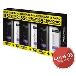 Kit Shampoo 400 ml + Condicionador 200 ml Tresemmé Reconstrução e Força Leve 03 Pague 02