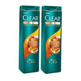 Kit Shampoo Clear 200 ml Detox Anti-Poluição