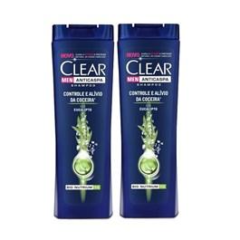 Kit Shampoo Clear Men 200 ml Controle e Alivio da Coceira