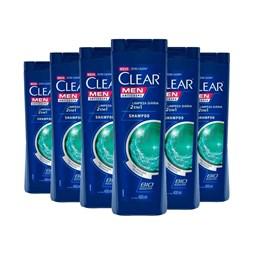 Kit Shampoo Clear Men 200 ml Controle e Alívio da Coceira Leve 03 Pague 02