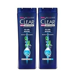 Kit Shampoo Clear Men 200 ml Ice Cool Menthol