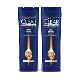 Kit Shampoo Clear Men 200 ml Queda Control