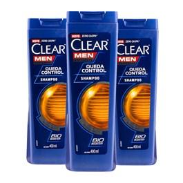 Kit Shampoo Clear Men 400 ml Queda Control Leve 03 Pague 02