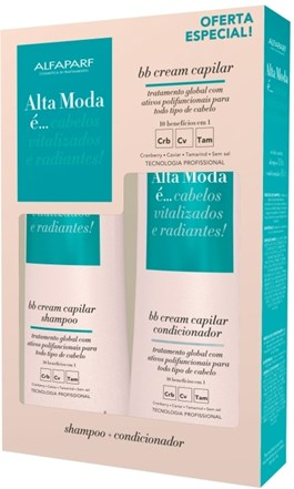 Kit Shampoo + Condicionador Alta Moda 300 ml Cada BB Cream