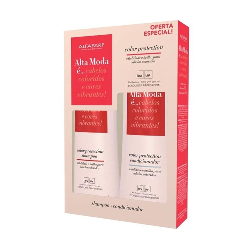 Kit Shampoo + Condicionador Alta Moda 300 ml Cada Color Protection