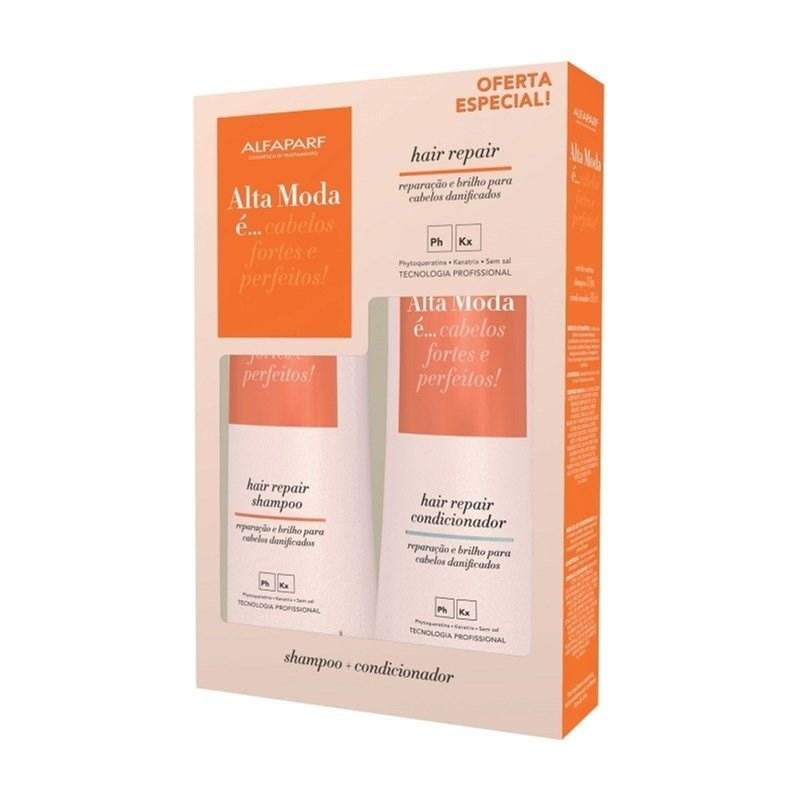 Kit Shampoo + Condicionador Alta Moda 300 ml Cada Hair Repair