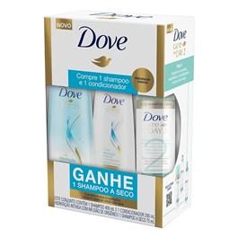 Kit Shampoo  + Condicionador Dove Idratação Intensa Grátis Shampoo Seco Care Day 2