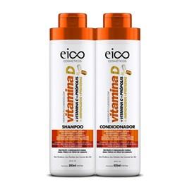 Kit Shampoo + Condicionador Eico Tratamento Profissional 800 ml Cada Vitamina D