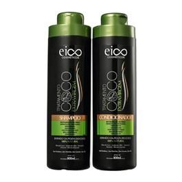 Kit Shampoo + Condicionador Eico Tratamento Profissional 800 ml Óleo de Coco