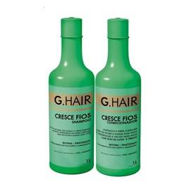 Kit Shampoo + Condicionador G.Hair 1 Litro Cada Cresce Fios