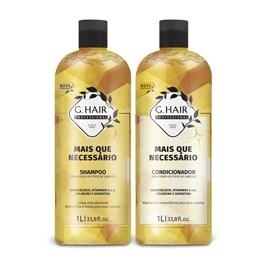 Kit Shampoo + Condicionador G.Hair 1 Litro Cada + Que Necessário