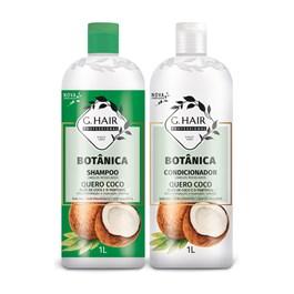 Kit Shampoo + Condicionador G.Hair 1 Litro Cada Quero Coco